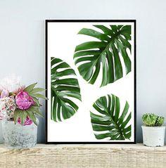 Monstera tropical de arte imprimible la hoja por PaperStormPrints
