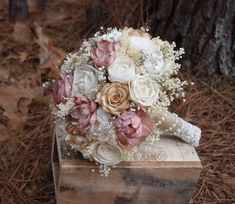 Wedding Bouquet Sola Bouquet Rustic Bouquet Ivory Bouquet Pink The listing is for 1 small, medium or large sola flower bouquet. The medium Bouquet is about Rustic Bouquet, Diy Bouquet, Brooch Bouquets, Bride Bouquets, Rose Bouquet, Bouquet Holder, Bridesmaid Bouquets, Diy Wedding Flowers, Bridal Flowers