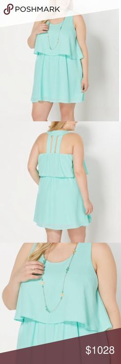 PARTY SPECIAL plus size blue flounce dress Beautiful light blue founded dress Dresses