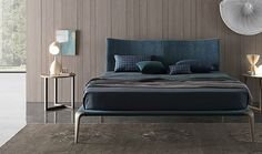 European furniture - modern bed design by Misura Emme Bed Furniture, Furniture Design, Double Bed Designs, Cozy Sofa, Leather Bed, European Furniture, House Beds, Bed Styling, Bedroom Bed