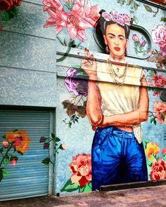 Frida street art. #Frida #art #streetart