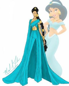 Дизайнерское платье принцессы Жасмин