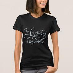 Infinity & beyond symbol endless love navy blue T-Shirt - couple love gifts present idea