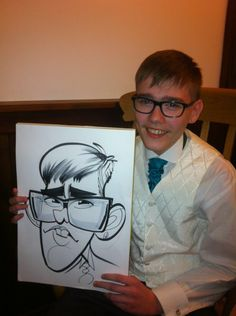 Wedding caricatures by George, taken from a wedding at Cubley Hall Cartoon Sketches, Art Sketches, Character Drawing, Character Design, Wedding Caricature, Comic Face, Line Sketch, Satire, Caricature Drawing