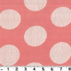 "JAQ769 Spotlight Peony by Roth & Tompkins Textiles is a pink 100% cotton fabric with 2 1/2"" white polka dots."