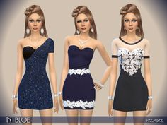 The Sims Resource: In Blue by Paogae • Sims 4 Downloads