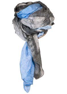 By Birdie Silketørklæde - Silk Art Scarf - Pisa – Acorns