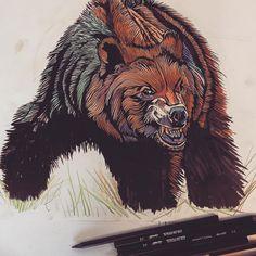 #colourful #bear #illustration #lukedixon #thebearhugco #drawing