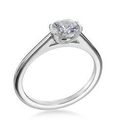 Mark Patterson - Promise Collection Platinum Semi-Bezel Ring Setting