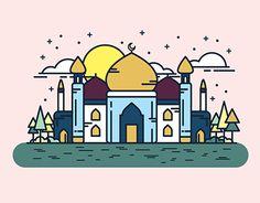 Hari Raya Aidilfitri — Money Packets Design 2017 on Behance Eid Mubarak Wallpaper, Ied Mubarak, Eid Card Designs, Ramadan Poster, Mosque Silhouette, Ramadan Cards, Penguin Drawing, Greeting Card Template, Islamic Wallpaper