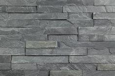 "Roterra Stone Siding - Slate Collection Black Slate / Thin Stone 4""x18"""