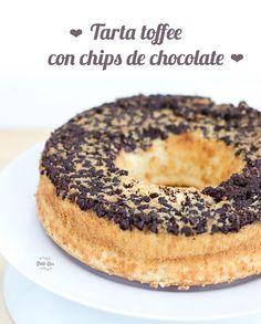 Tarta toffe con chips de chocolate