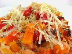Butternut squash and red pepper casserole