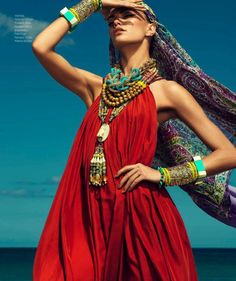 MagTag - 8 Essential Items for the Boho Look boho chic, july 2013, red, style, mexico, dress, fashion editorials, beauty, accessories