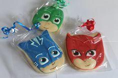 PJ máscaras 12 galletas cookies por Ladybugcakesdotcom en Etsy