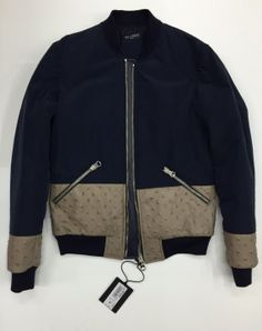 Bomber Yes London blu e beige