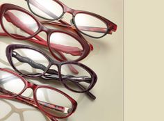 From top: BECKY 2518 from Bevel Specs; JUDITH LEIBER 1675 from Legacie/The Luxury House of B. Robinson Optical; ZIGGY by Cendrine O. 1385 from Zig Eyewear; VIANA 1020 from Alpha Viana