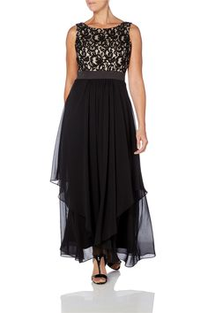 Lace Bodice Dress - at Roman Originals