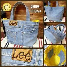 Best 10 Women's bag of jeans. Stylish bag of recycled jeans. Denim Handbags, Denim Tote Bags, Denim Purse, Diy Jeans, Recycle Jeans, Mochila Jeans, Blue Jean Purses, Diy Bags Purses, Denim Ideas