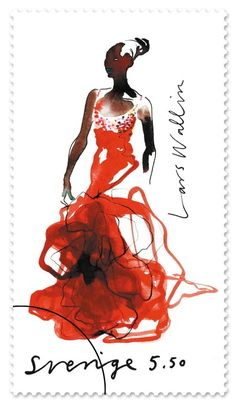 Stina Wirsen: from a series of stamps she created for Sweden
