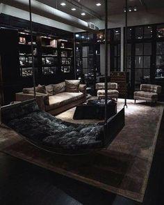 Home Room Design, Dream Home Design, Interior Design Living Room, Living Room Designs, Kitchen Design, Kitchen Ideas, Best Living Room Design, Interior Design Pictures, Black Interior Design