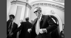 Senate Minority Leader Harry Reid arrives to address the media following a Senate Policy Luncheon on Feb. 24.  Read more: http://www.politico.com/magazine/gallery/2015/12/2015-best-photos-politico-year-in-review-000599#ixzz40YSxiMiX