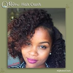 "Today's #QRedew #HairCrush is Instagrammer #curlssodope. ""For those who asked. Here's the details on my hair. I skipped out on my wash day. I was soooo lazy yesterday . I achieved this style from an old two strand twist out. I used my @qredew handheld steamer to provide moisture, stretch and detangle my hair. Then I applied @lovelottabody curl milk, put 6 flat twist and white perm rods on the ends. Viola."""