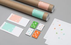 """Toronto-based studio Tung produced this playful identity for illustrator Ben Weeks. """"Ben Weeks is an illustrator whose work includes editorial, advertising and environmental illustration. Drawing from Ben Brand Identity Design, Graphic Design Branding, Stationery Design, Graphic Design Illustration, Kids Branding, Label Design, Package Design, Blog Design Inspiration, Daily Inspiration"""