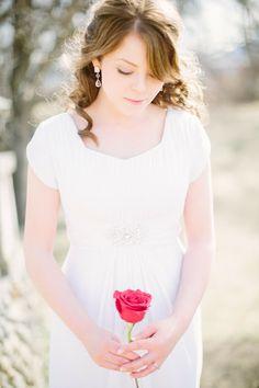 Simple Wedding Bouquet Romantic Red Rose