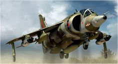 Sea Harrier GR3. Box art Airfix. Más en www.elgrancapitan.org/foro