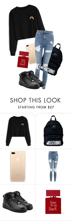 """Close to my heart."" by crucifiz ❤ liked on Polyvore featuring Moschino, Topshop, NIKE and Bella Freud"