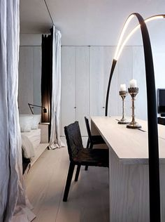 bedroom | black and white