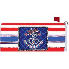 Patriotic Anchor Mailbox Cover