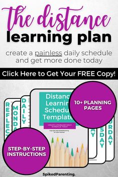 Distance learning is new to most of us...but it doesn't have to be difficult. All you need is a simple plan to keep everyone on track. This distance learning planner will help you organize your day so your kids succeed and you can get more done. Grab this amazing distance learning printable today! Time Management Techniques, Time Management Tools, Time Management Strategies, Shatter The Glass Ceiling, Business Tips, Online Business, A Simple Plan, Schedule Templates, Tips Online