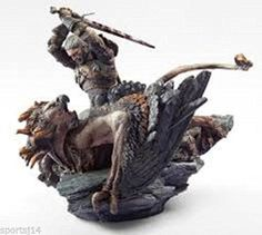 NEW-Witcher-3-Wild-Hunt-Polystone-Geralt-vs-Griffin-Statue-from-Collectors-Editi
