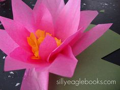 water lilies tutorial for kids (but great for us big kids) found thanks to Mod Podge Rocks