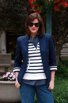 yacht club...mix of stripes and polka dots