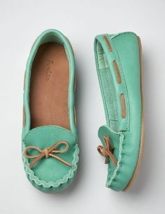 mint green moccasins