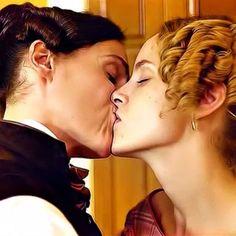 A full on kiss