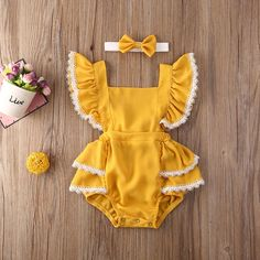 Cute Baby Girl Outfits, Baby Girl Romper, Cute Outfits For Kids, Cute Baby Clothes, Baby Girl Newborn, Summer Clothes, Baby Dress, Baby Girls, Baby Girl Dress Patterns