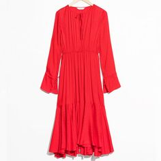 What to wear to a wedding: & Other Stories Midi Tie Neck Dress