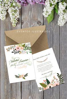 Invitaciones de boda alegres, divertidas y románticas. No te quedes sin la tuya!