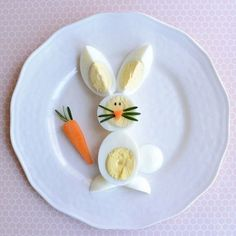 Easter breakfast: delicious ideas for an unforgettable morning Cute Snacks, Cute Food, Yummy Food, Creative Food Art, Food Art For Kids, Food Carving, Food Decoration, Easter Brunch, Food Crafts