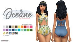 simlaughlove: Océane - Long time no sea! With the release of. - The Sims 4 CC - Mod Sims Free Custom Contents or Mods for The Sims Games Sims Four, Sims 4 Mm Cc, Sims 4 Mods, Maxis, Full Body Swimsuit, Camo Swimsuit, Sims 4 Studio, Sims 4 Dresses, Sims4 Clothes