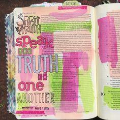 Bible journaling, Zechariah 8:16 — Arden Ratcliff-Mann #illustratedfaith