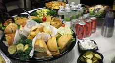 Easy and complete set up for the big game  by Saint Germain Catering, via Flickr