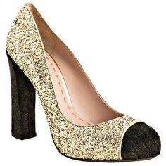 773c19eb6f Miu Miu Gold Glitter Calf Hair Cap Toe Pumps Miu Miu Heels, Gold Glitter,