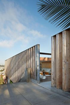 Brise and wooden wall Peter's House by Craig Steely  Contemporary House in San Francisco