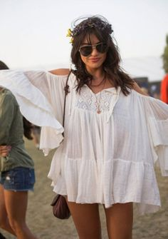 Modern hippie boho peasant blouse, gypsy style. For MORE Bohemian fashion trends FOLLOW http://www.pinterest.com/happygolicky/the-best-boho-chic-fashion-bohemian-jewelry-gypsy-/