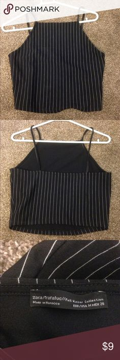 Zara crop top Striped crop top Zara Tops Crop Tops